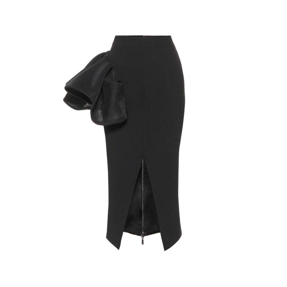 マティスフスキー Maticevski レディース ひざ丈スカート ペンシルスカート スカート【Cause Ruffle pencil skirt】black