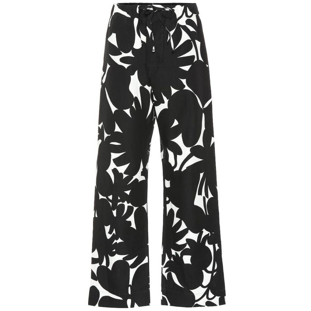 マルニ Marni レディース ボトムス・パンツ 【Printed linen-blend palazzo pants】