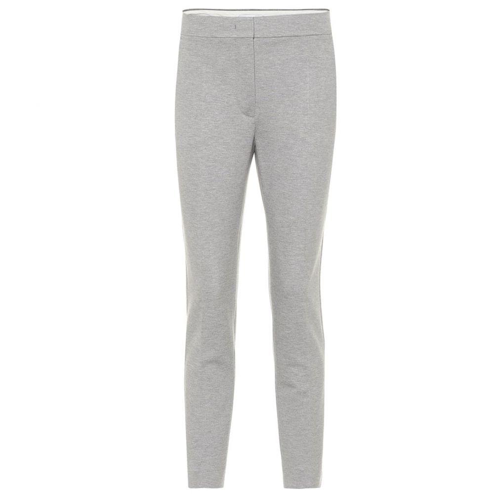 マックスマーラ Max Mara レディース ボトムス・パンツ 【Pegno stretch-jersey slim pants】grigio melange