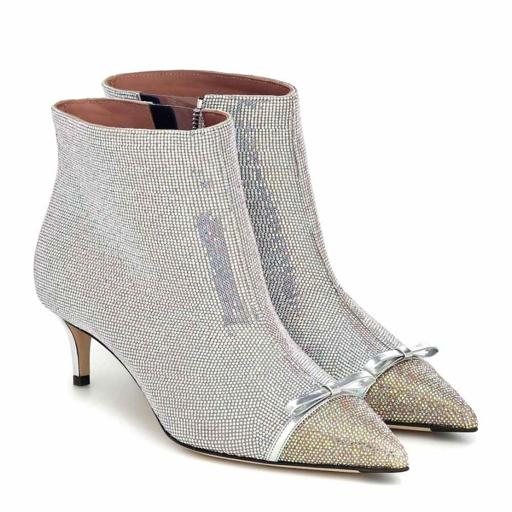 マルコデヴィンチェンツオ Marco De Vincenzo レディース ブーツ ショートブーツ シューズ・靴【Crystal-embellished ankle boots】Gold-Crystal