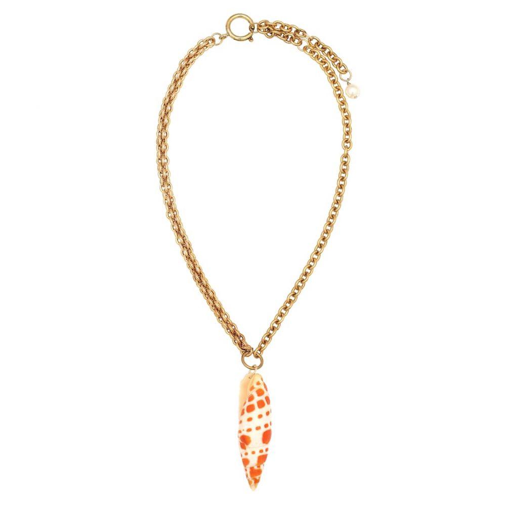 マリーン セル Marine Serre レディース ネックレス ジュエリー・アクセサリー【Seashell and pearl necklace】