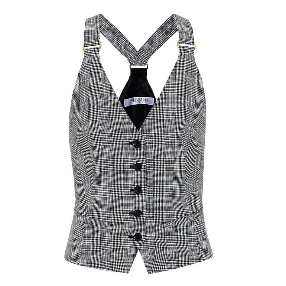 マックスマーラ Max Mara レディース ベスト・ジレ トップス【Muriel houndstooth cotton vest】
