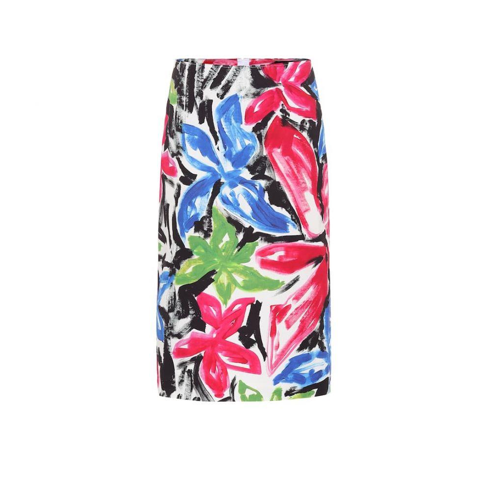 マルニ Marni レディース ひざ丈スカート スカート【Floral high-rise cotton skirt】Starlight Pink