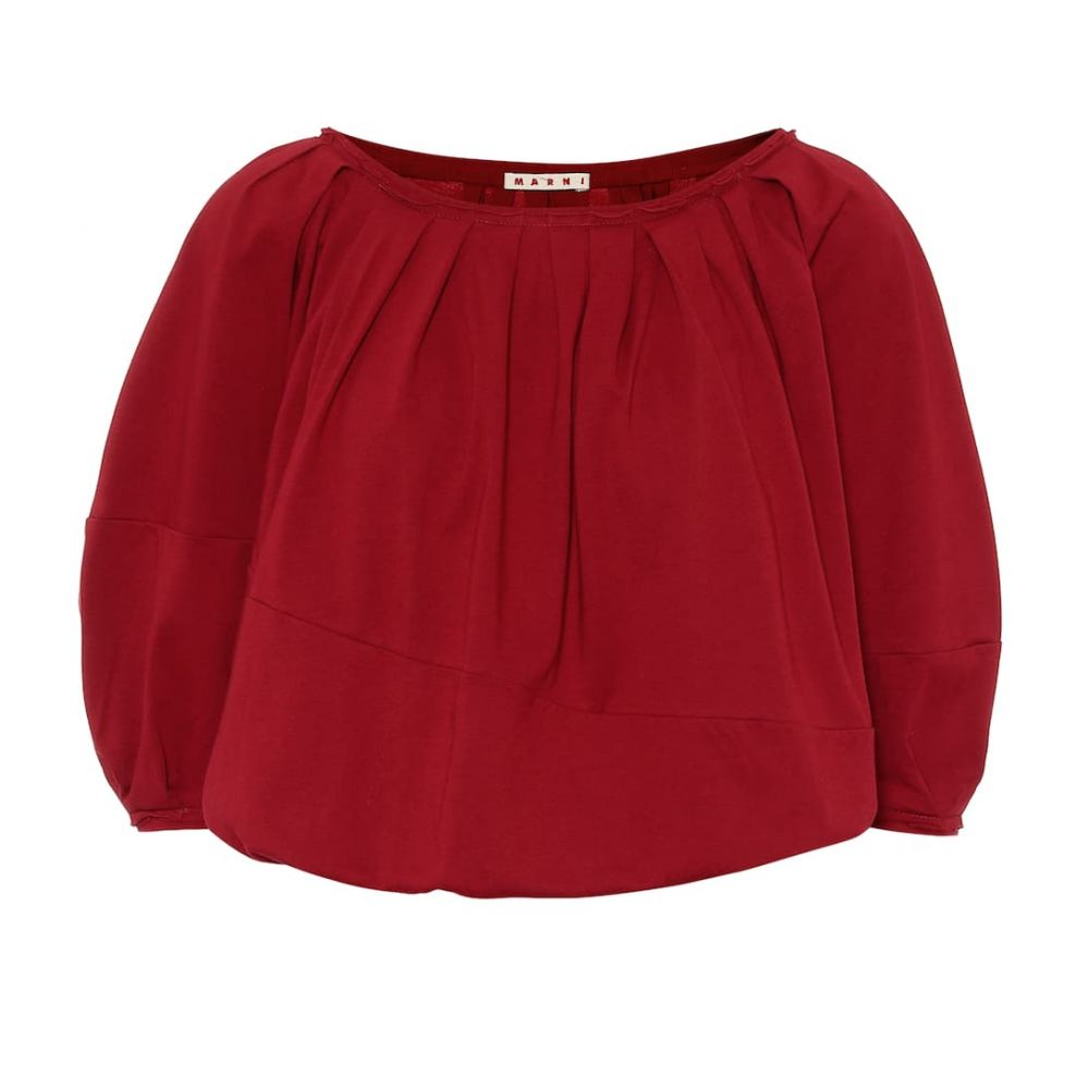 マルニ Marni レディース ブラウス・シャツ トップス【Cotton blouse】China Red