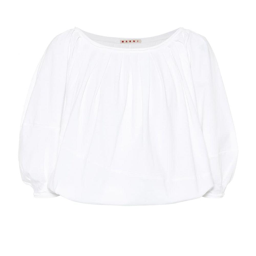 マルニ Marni レディース ブラウス・シャツ トップス【Cotton blouse】White