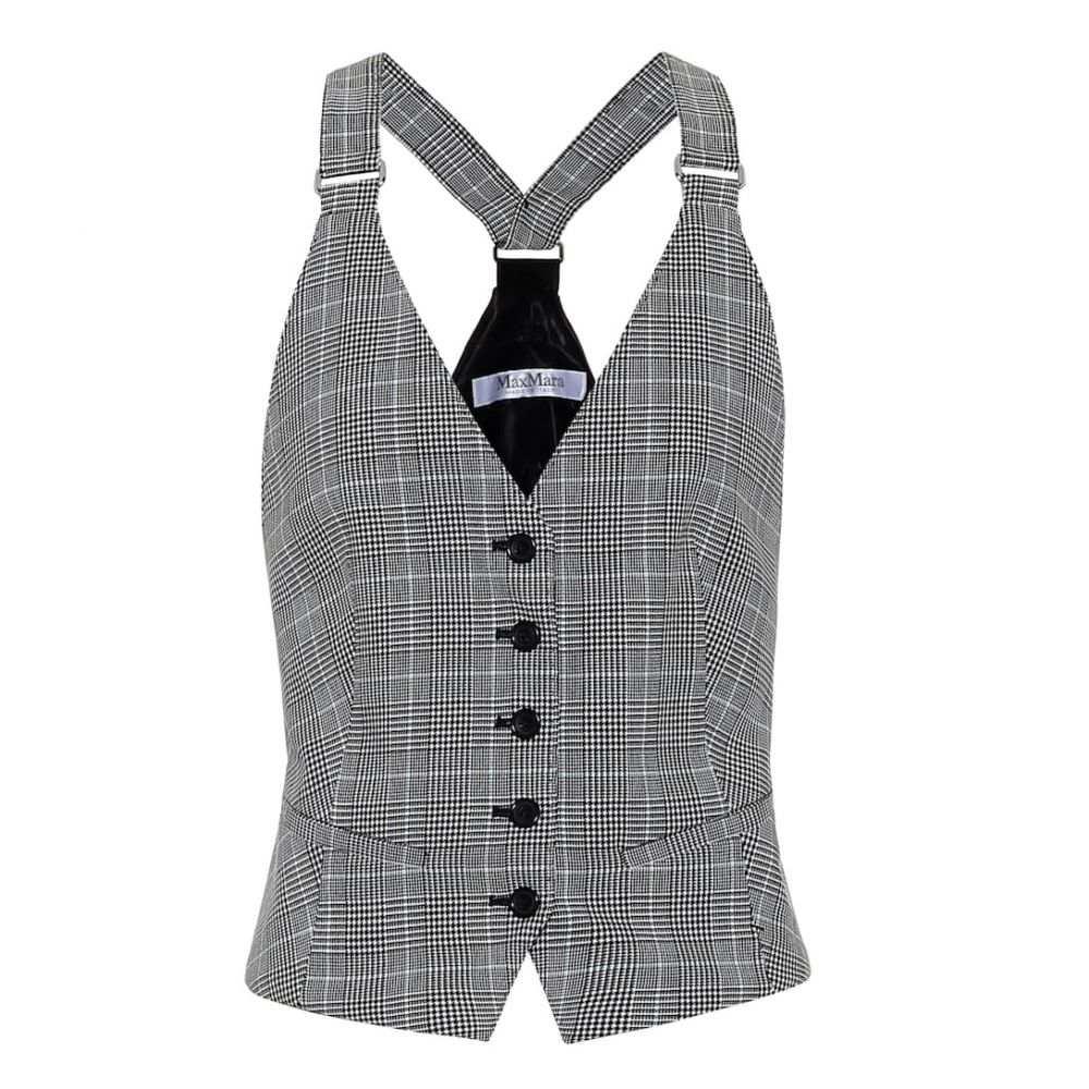 マックスマーラ Max Mara レディース ベスト・ジレ トップス【Arley checked cotton vest】