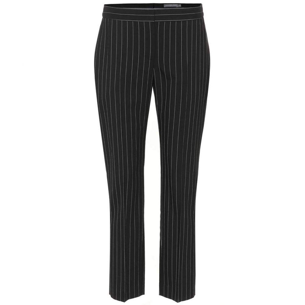アレキサンダー マックイーン Alexander McQueen レディース ボトムス・パンツ 【Pinstriped wool-blend pants】Black/White
