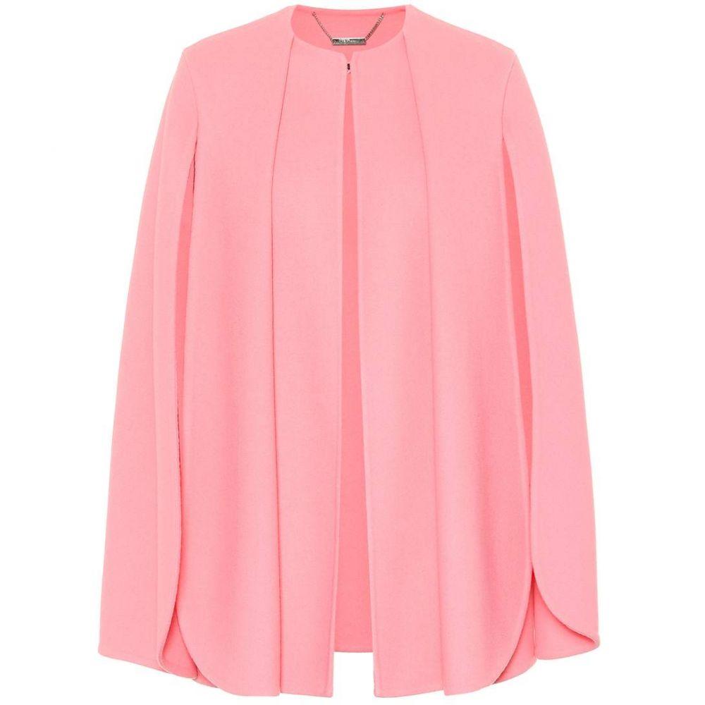 アレキサンダー マックイーン Alexander McQueen レディース ポンチョ アウター【Wool and cashmere cape】flamingo pink