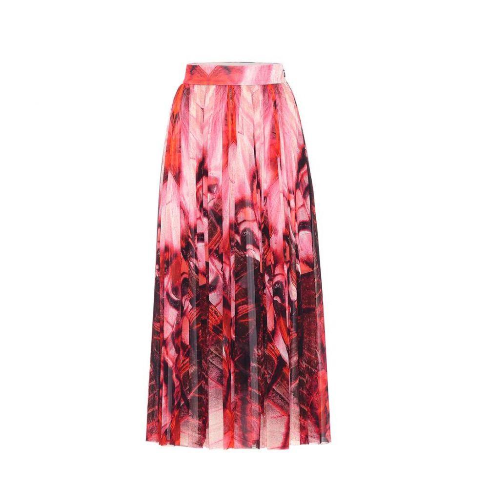 アレキサンダー マックイーン Alexander McQueen レディース スカート 【Butterfly-printed crepe skirt】red mix