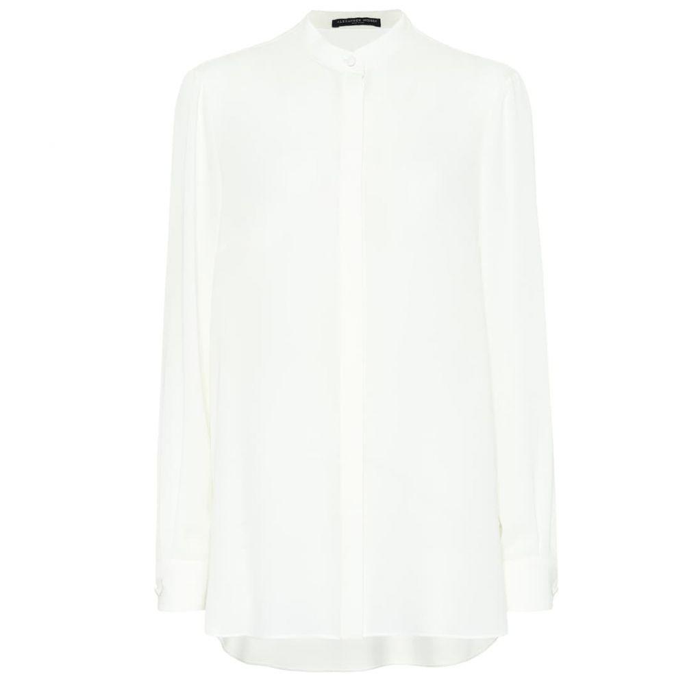 アレキサンダー マックイーン Alexander McQueen レディース ブラウス・シャツ トップス【Silk shirt】Soft White