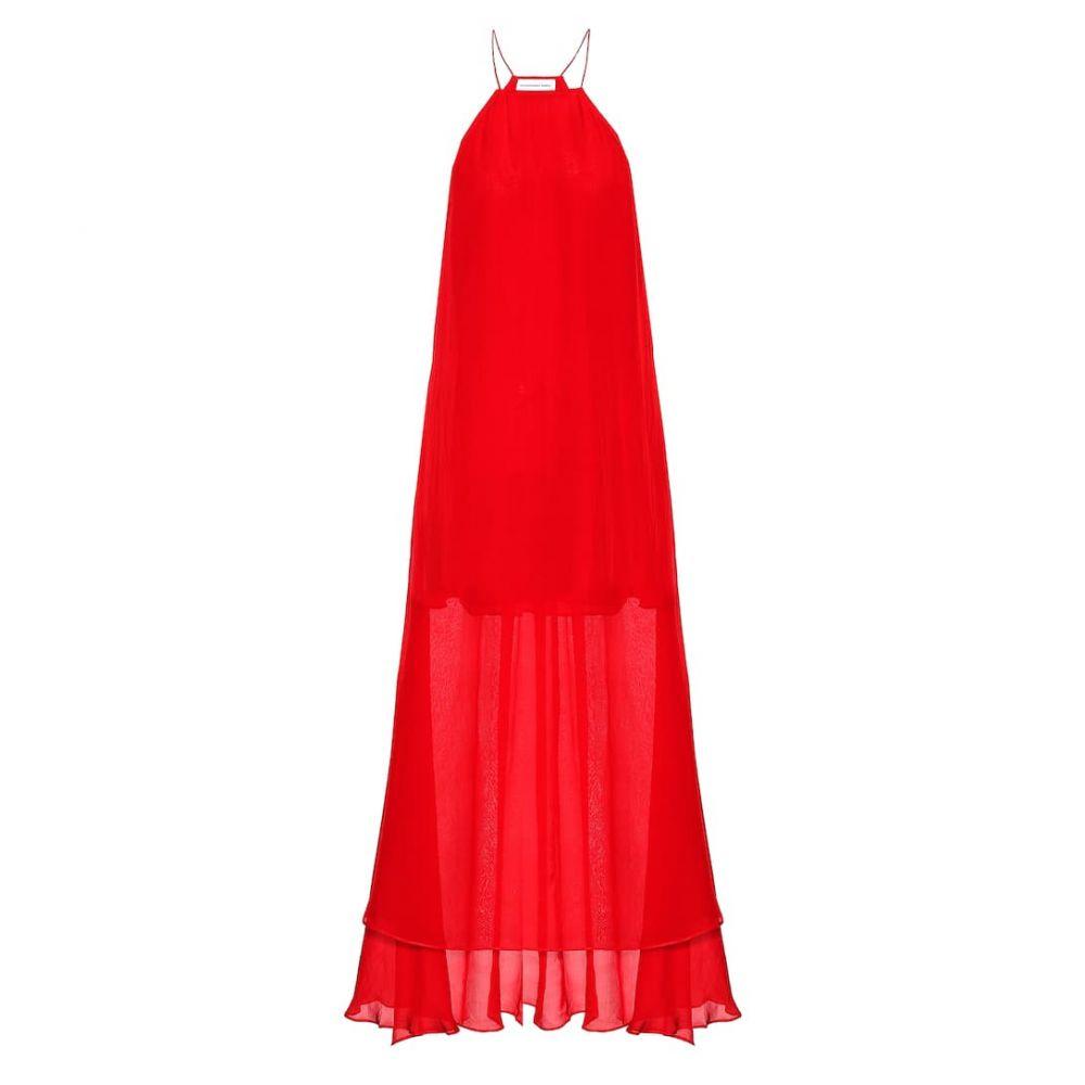 アレクサンドラ ミロ Alexandra Miro レディース ビーチウェア ワンピース・ドレス 水着・ビーチウェア【Sophia silk organaza maxi dress】red