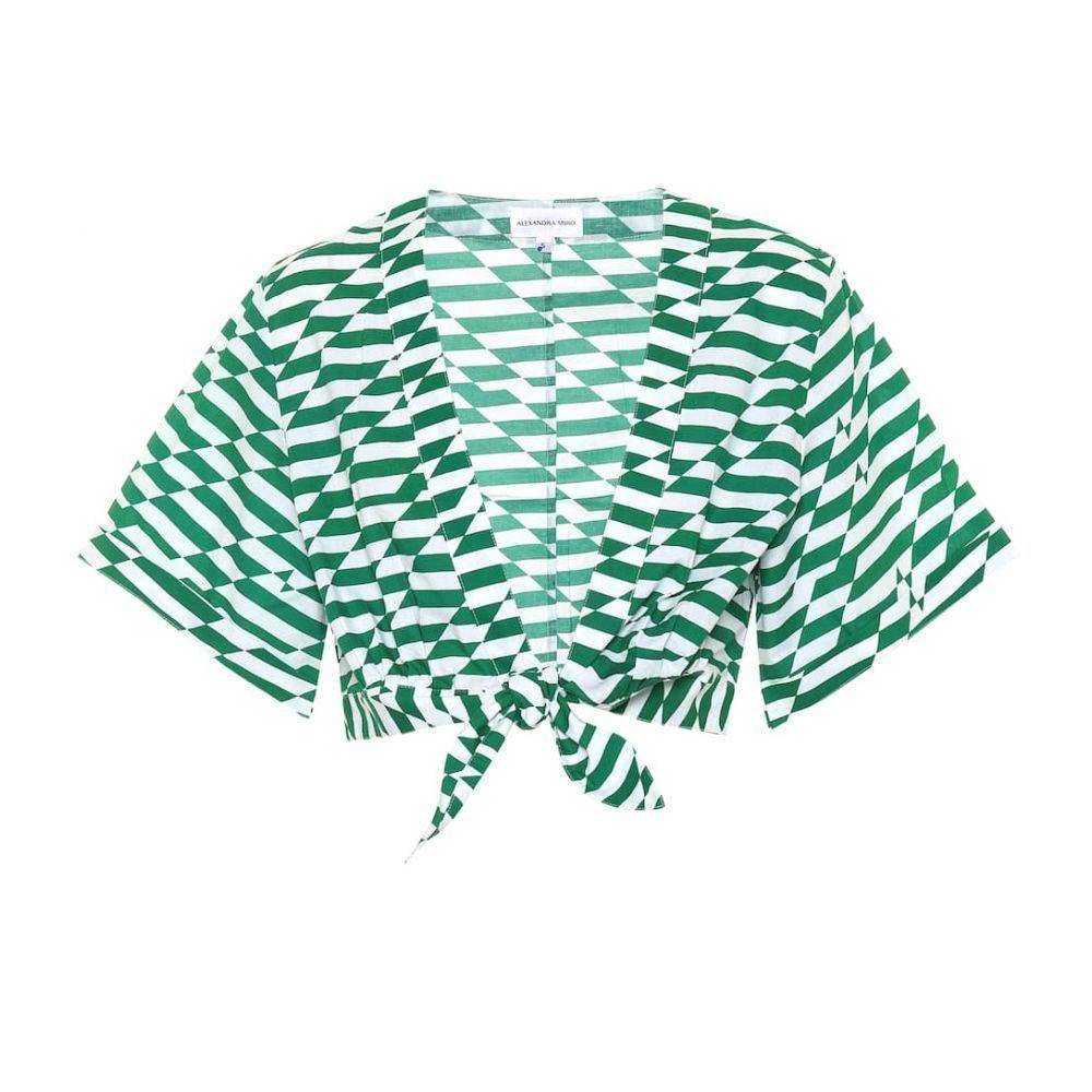 アレクサンドラ ミロ Alexandra Miro レディース ビーチウェア トップス 水着・ビーチウェア【Sandy printed cotton crop top】Green Geo