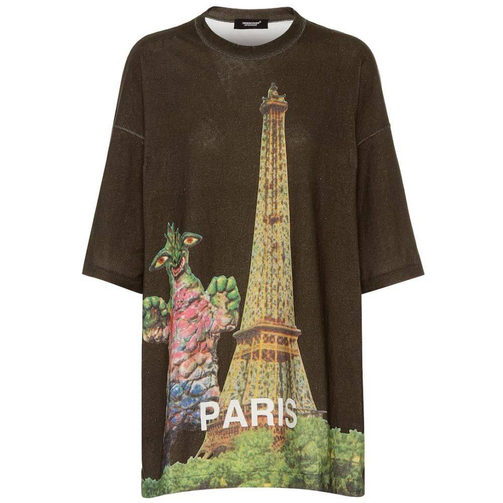 アンダーカバー Undercover レディース Tシャツ トップス【Oversized printed cotton T-shirt】Khaki