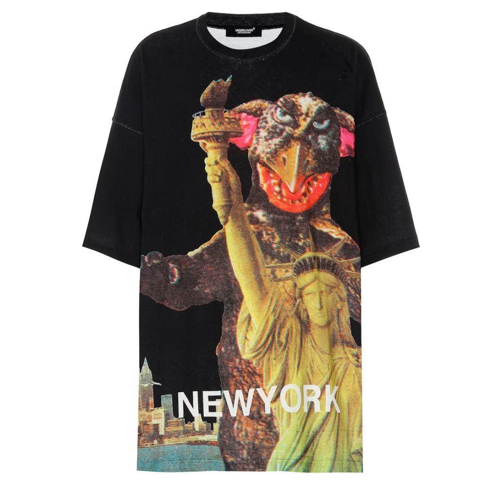 アンダーカバー Undercover レディース Tシャツ トップス【Oversized printed cotton T-shirt】Black