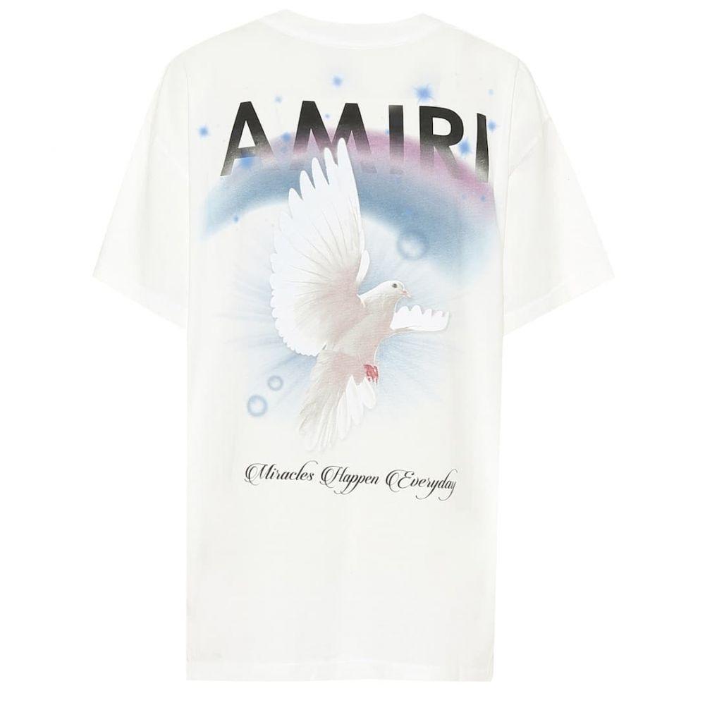 アミリ Amiri レディース Tシャツ トップス【Logo cotton T-shirt】Ivory
