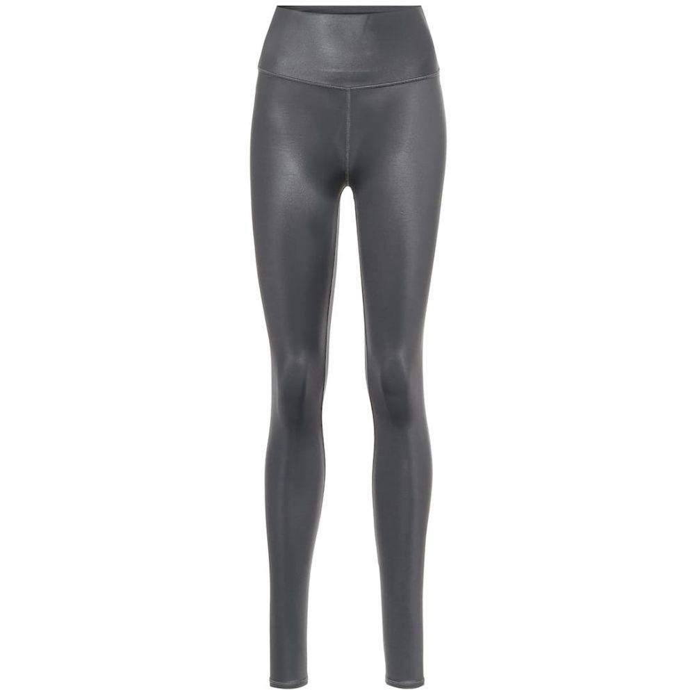 アローヨガ Alo Yoga レディース スパッツ・レギンス インナー・下着【High-rise leggings】Anthracite Shine