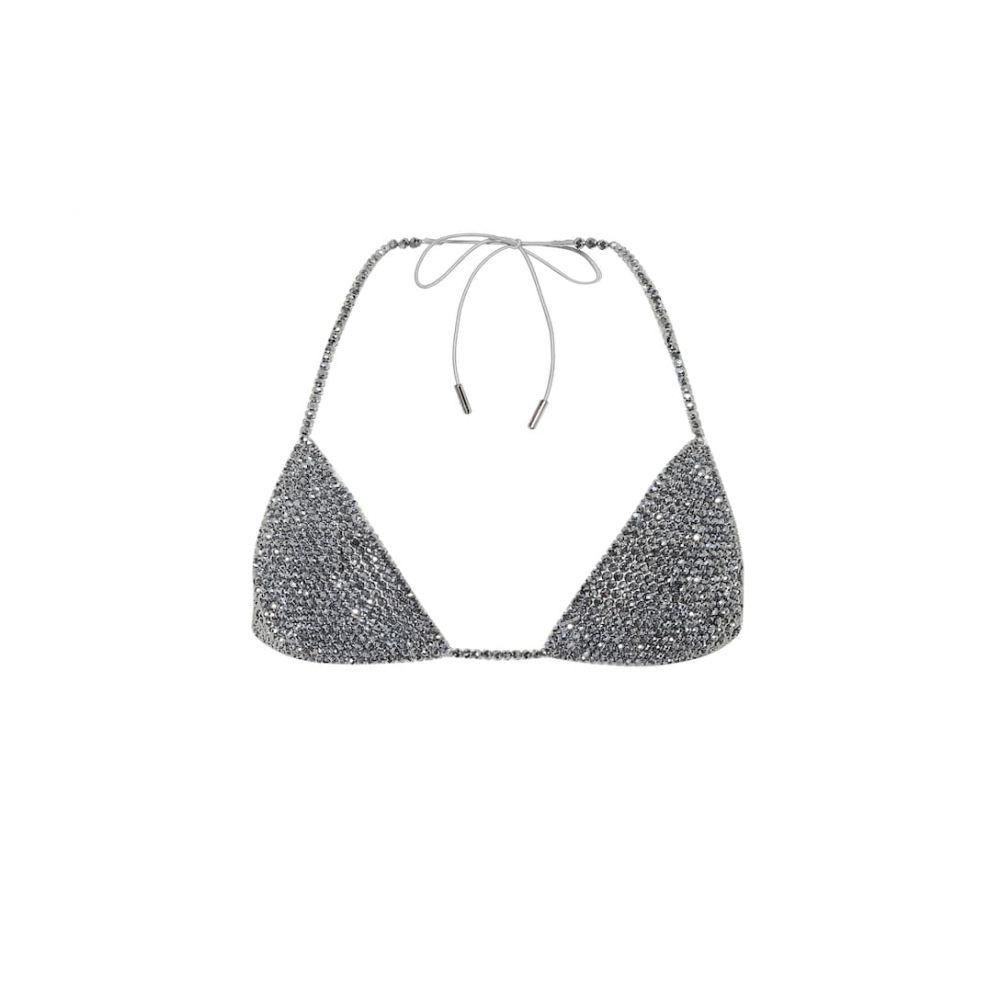 アラヌイ Alanui レディース トップのみ 水着・ビーチウェア【Embellished bikini top】Silver Silver