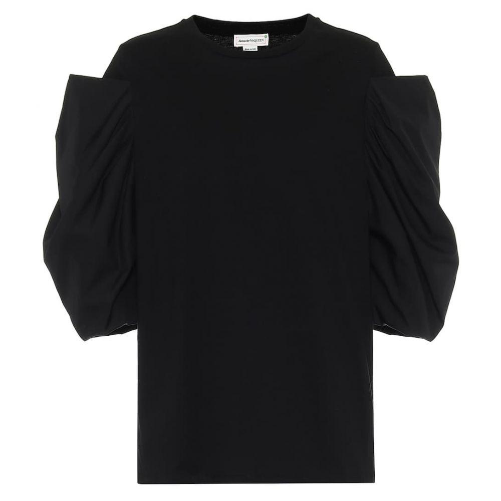 アレキサンダー マックイーン Alexander McQueen レディース Tシャツ トップス【Cotton T-shirt】Black