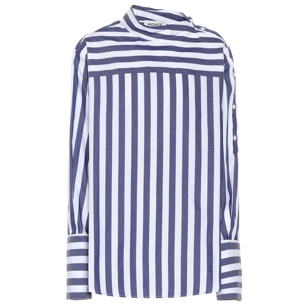 モンス Monse レディース トップス 【Striped cotton top】Navy/White