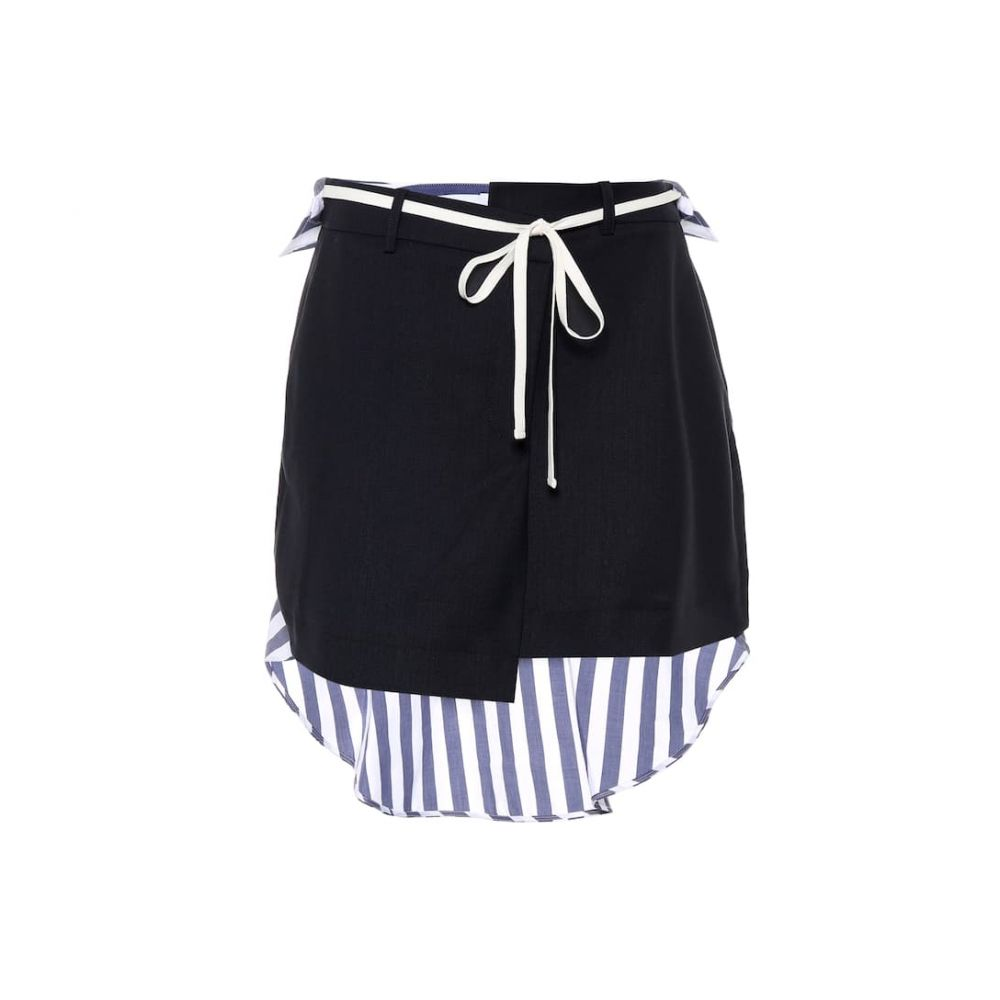 モンス Monse レディース ミニスカート スカート【Stretch wool and cotton miniskirt】Navy