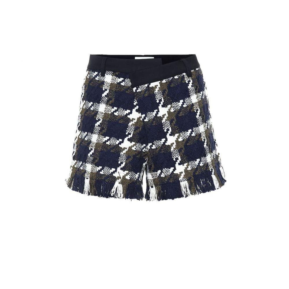 モンス Monse レディース ショートパンツ ボトムス・パンツ【Tweed and twill shorts】Navy/Olive