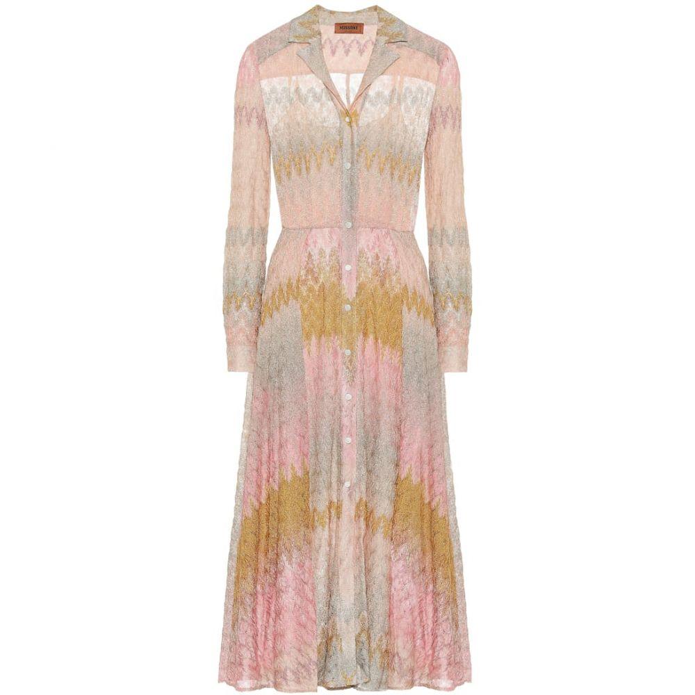 ミッソーニ Missoni レディース ワンピース ミドル丈 ワンピース・ドレス【Stretch-silk knit midi dress】
