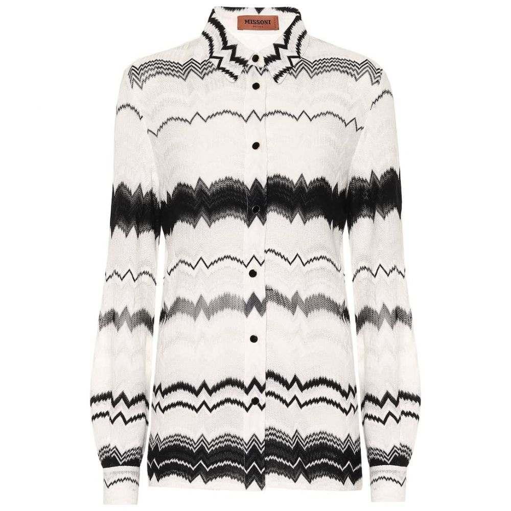 ミッソーニ Missoni レディース ブラウス・シャツ トップス【Cotton-blend knit shirt】
