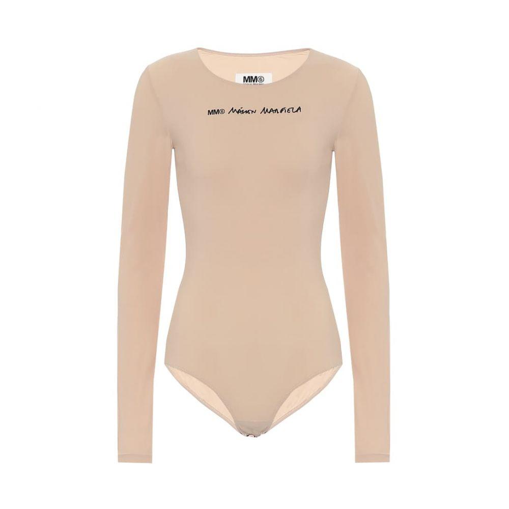 メゾン マルジェラ MM6 Maison Margiela レディース ボディースーツ インナー・下着【Logo stretch-jersey bodysuit】Nude