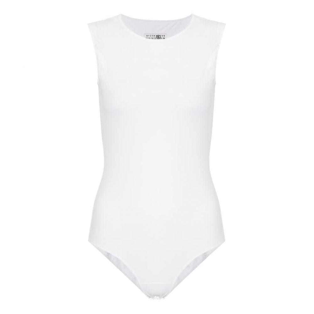 メゾン マルジェラ MM6 Maison Margiela レディース ボディースーツ インナー・下着【Stretch-jersey bodysuit】White