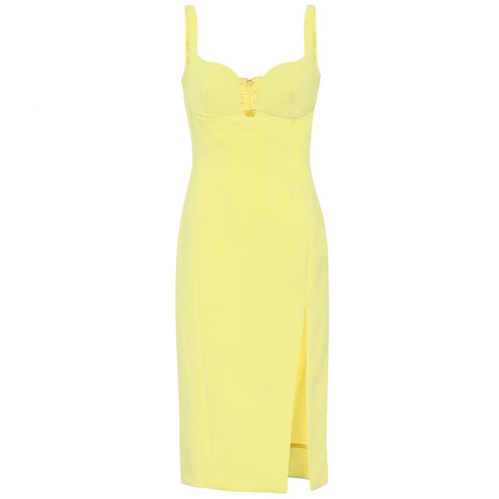 ミュグレー Mugler レディース パーティードレス ワンピース・ドレス【Stretch-crepe minidress】Yellow