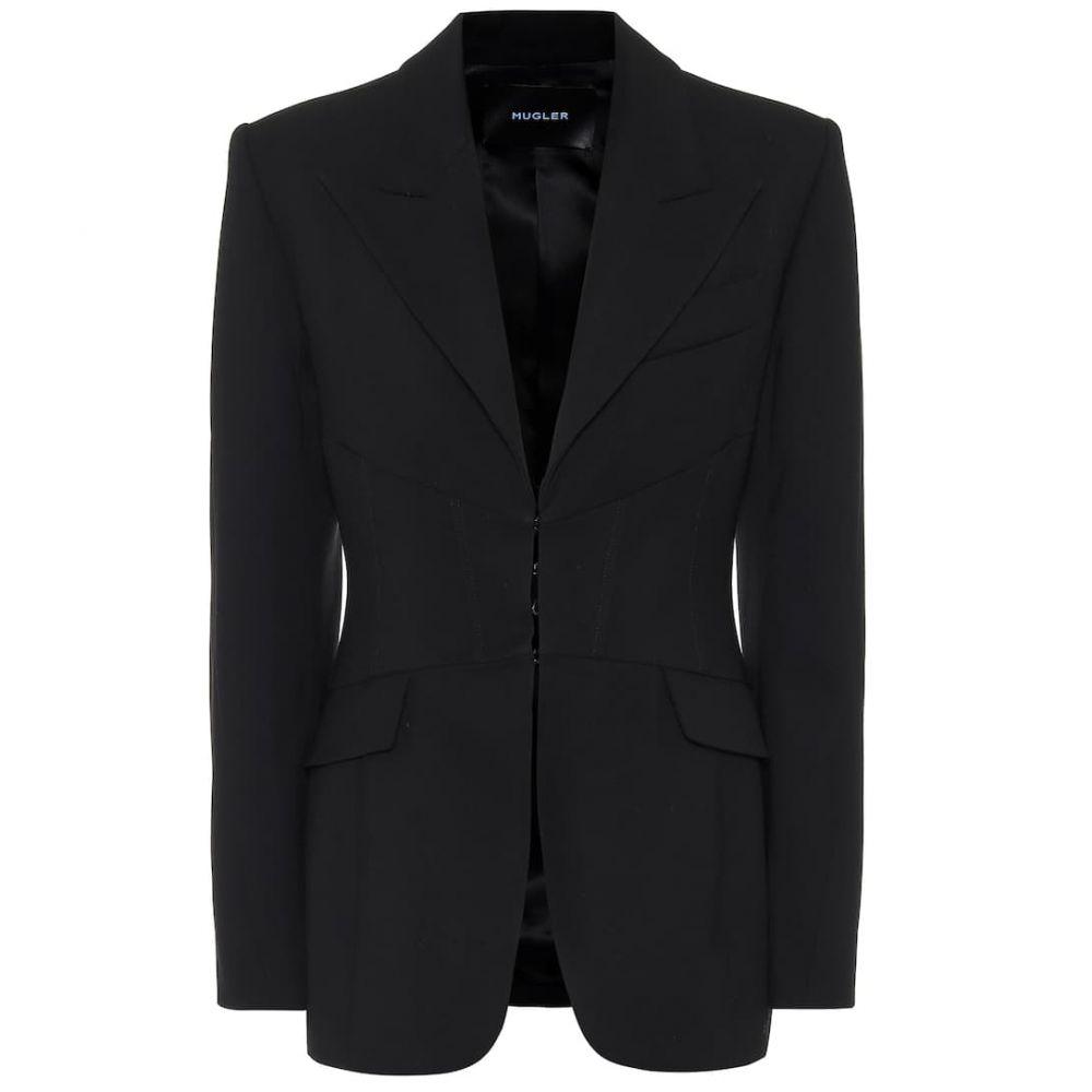 ミュグレー Mugler レディース スーツ・ジャケット アウター【Virgin wool blazer】Black