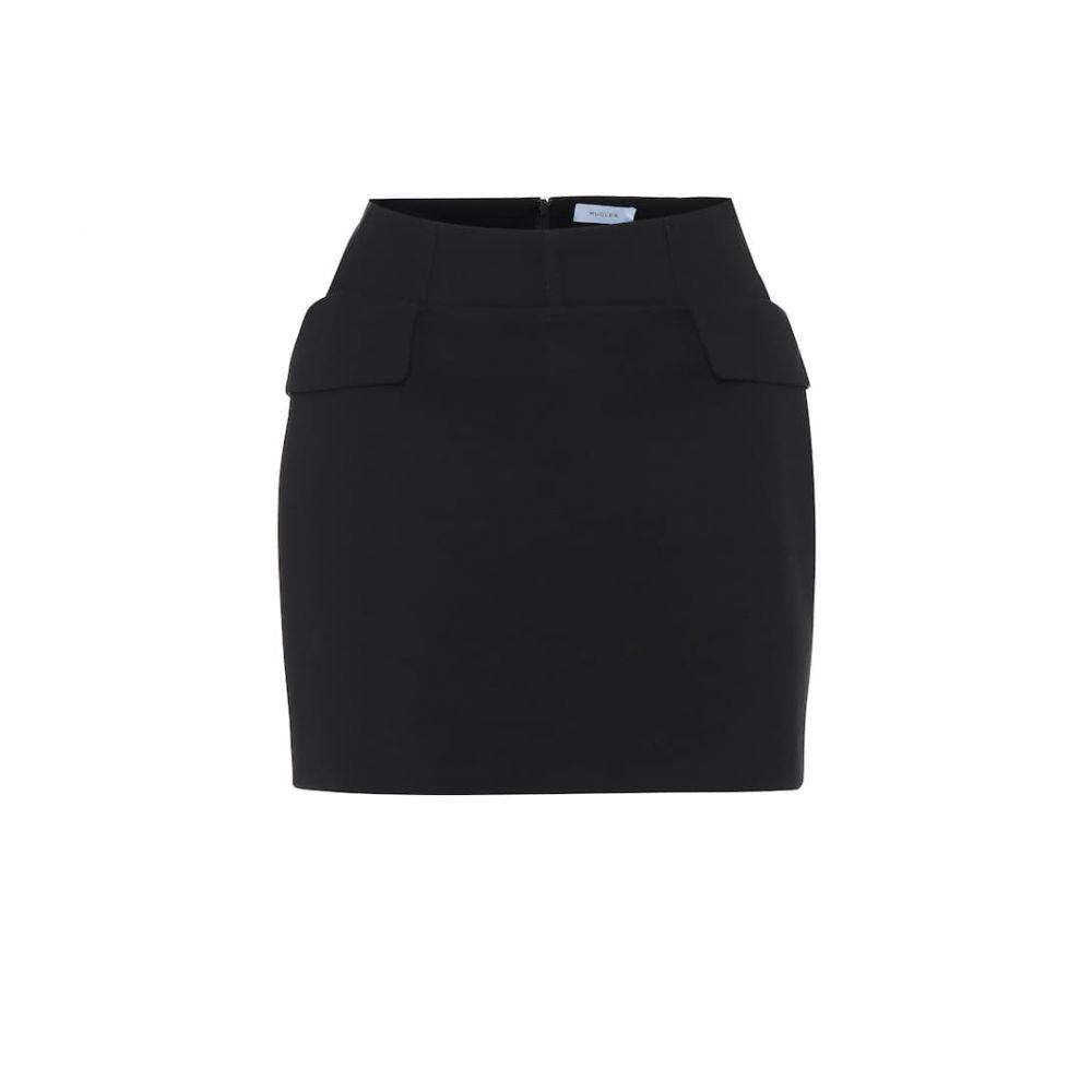ミュグレー Mugler レディース ミニスカート スカート【High-rise virgin wool miniskirt】Black