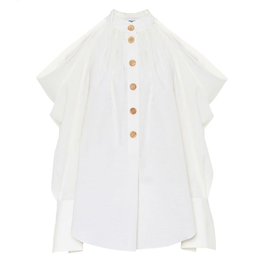 モンス Monse レディース ブラウス・シャツ トップス【Cotton and linen shirt】Linen