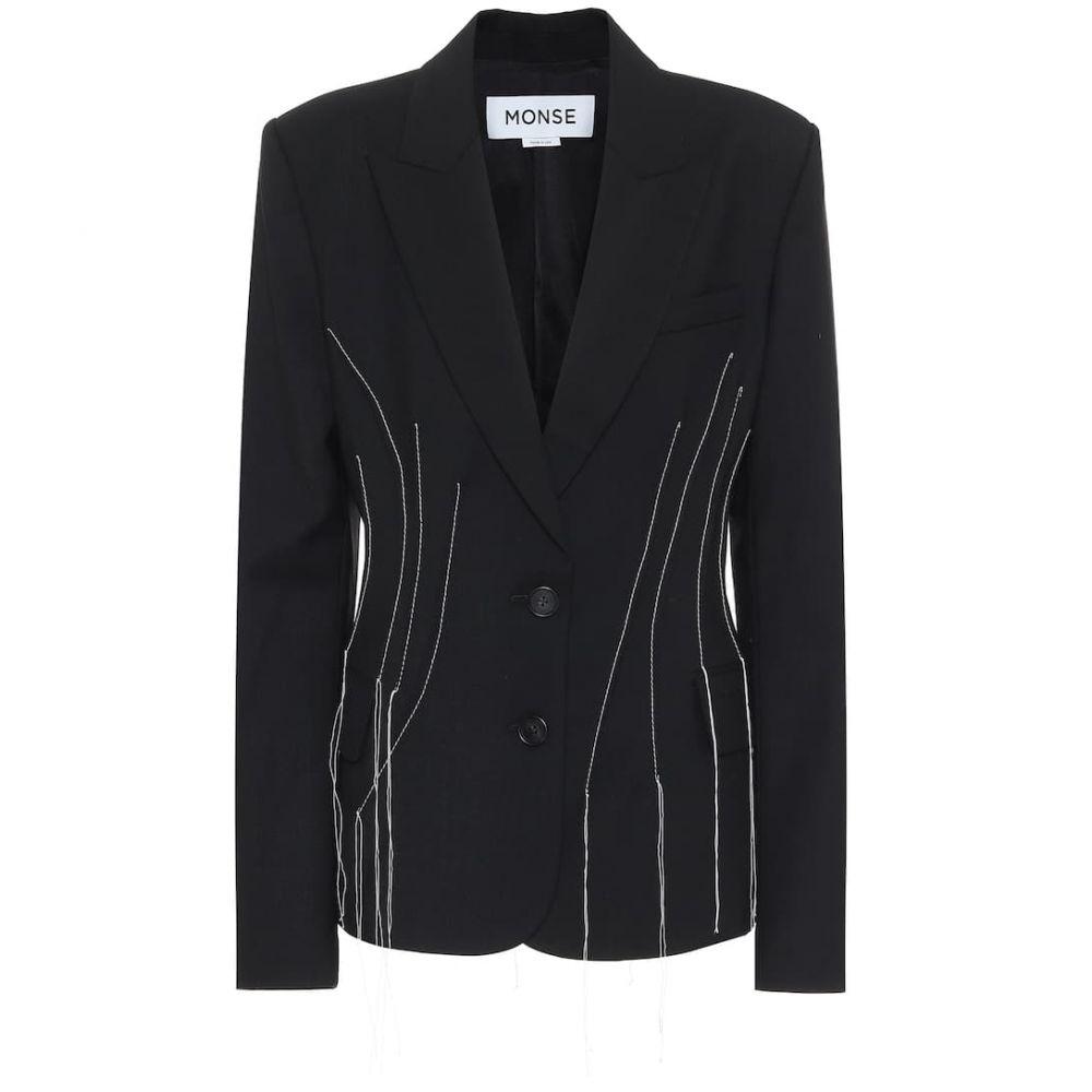 モンス Monse レディース スーツ・ジャケット アウター【Stretch-wool blazer】Black