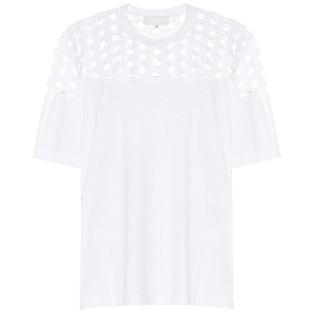 メゾン マルジェラ Maison Margiela レディース Tシャツ トップス【Cut-out cotton T-shirt】White