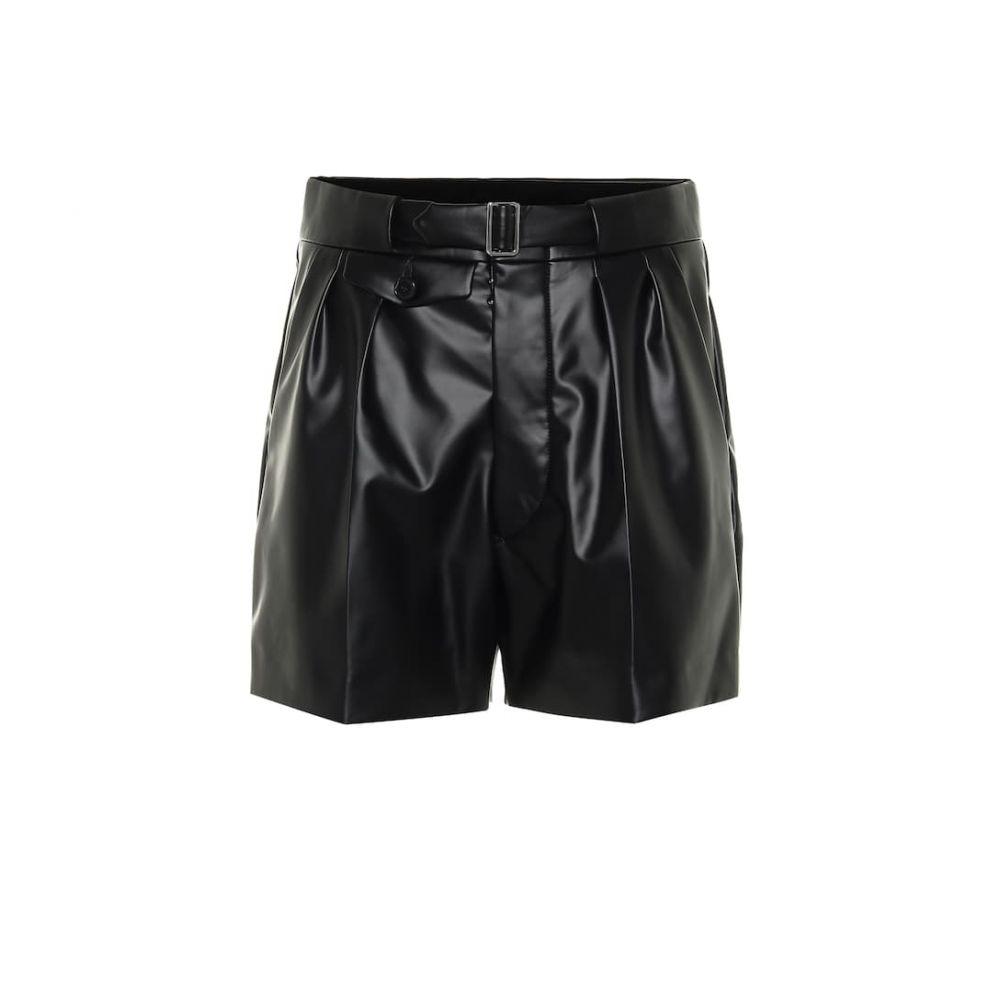 メゾン マルジェラ Maison Margiela レディース ショートパンツ ボトムス・パンツ【High-rise faux leather shorts】Black