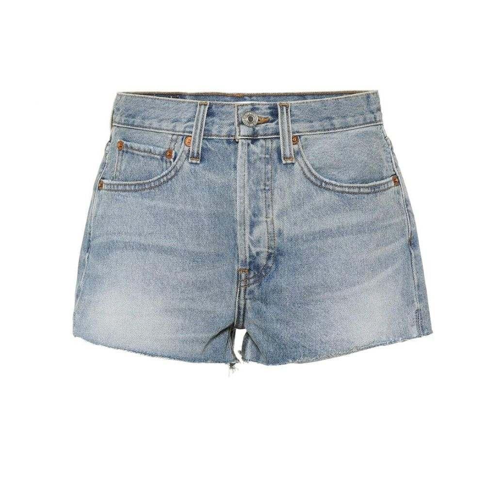 リダン Re/Done レディース ショートパンツ デニム ボトムス・パンツ【The Short denim shorts】Dirty Destroy