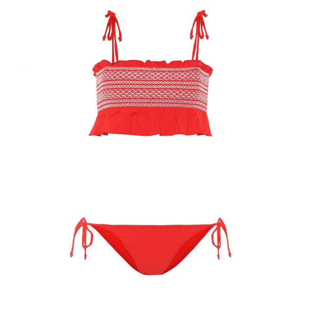 リサ マリー フェルナンデス Lisa Marie Fernandez レディース 上下セット 水着・ビーチウェア【Selena smocked bikini】Tomato