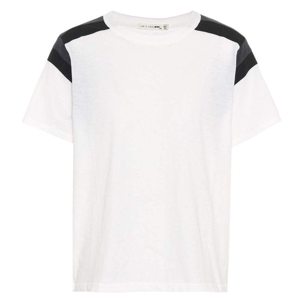 ラグ&ボーン Rag & Bone レディース Tシャツ トップス【Panel cotton T-shirt】Eggshell