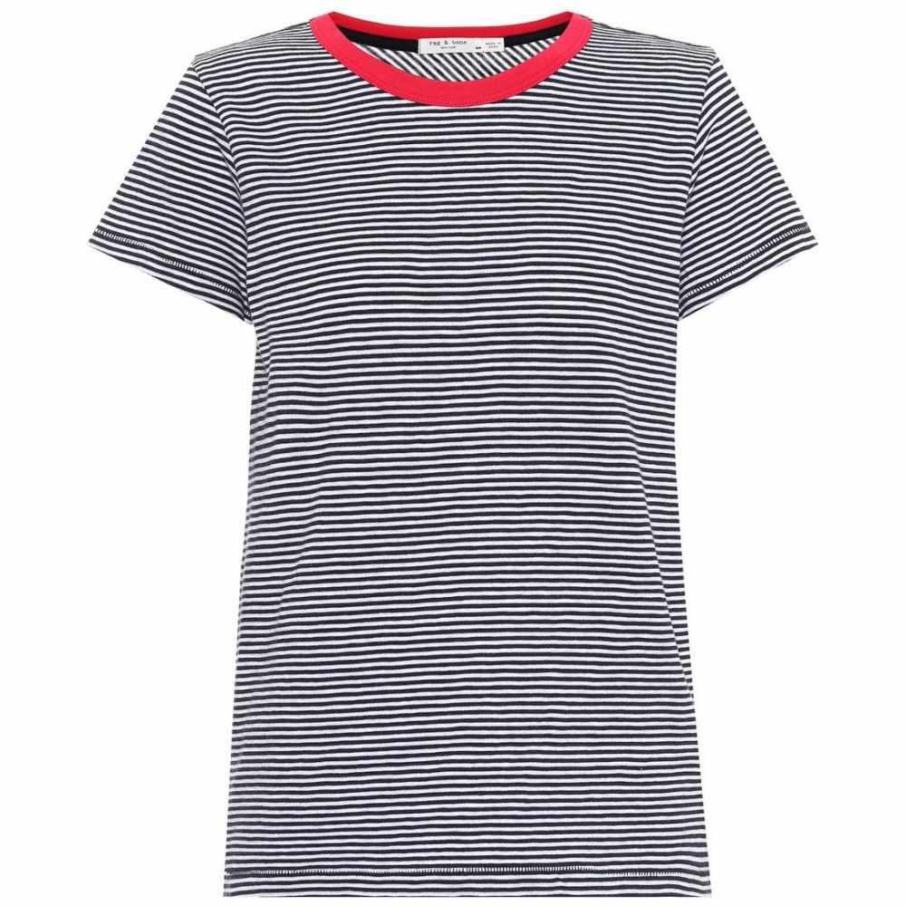 ラグ&ボーン Rag & Bone レディース Tシャツ トップス【Striped cotton T-shirt】Navy/White