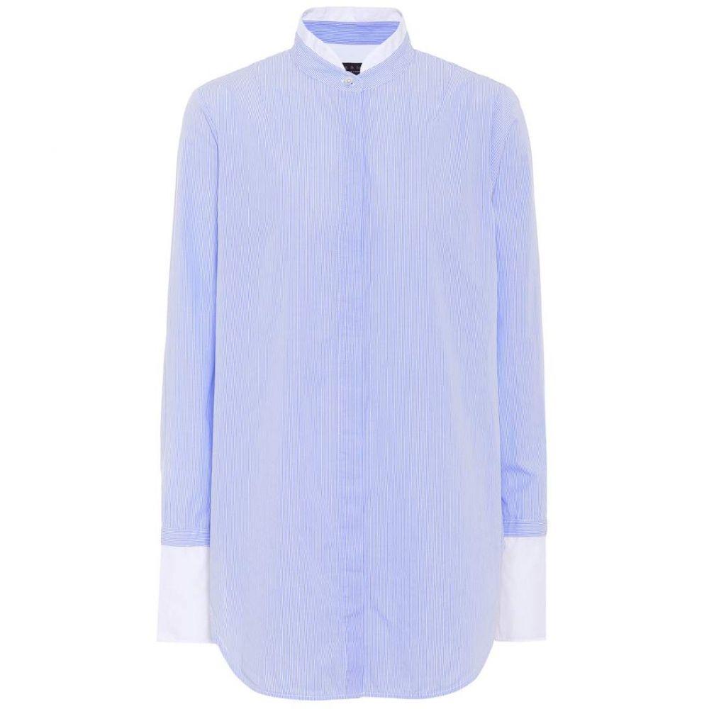 ラグ&ボーン Rag & Bone レディース ブラウス・シャツ トップス【Allie striped cotton shirt】Light Blue Stripe