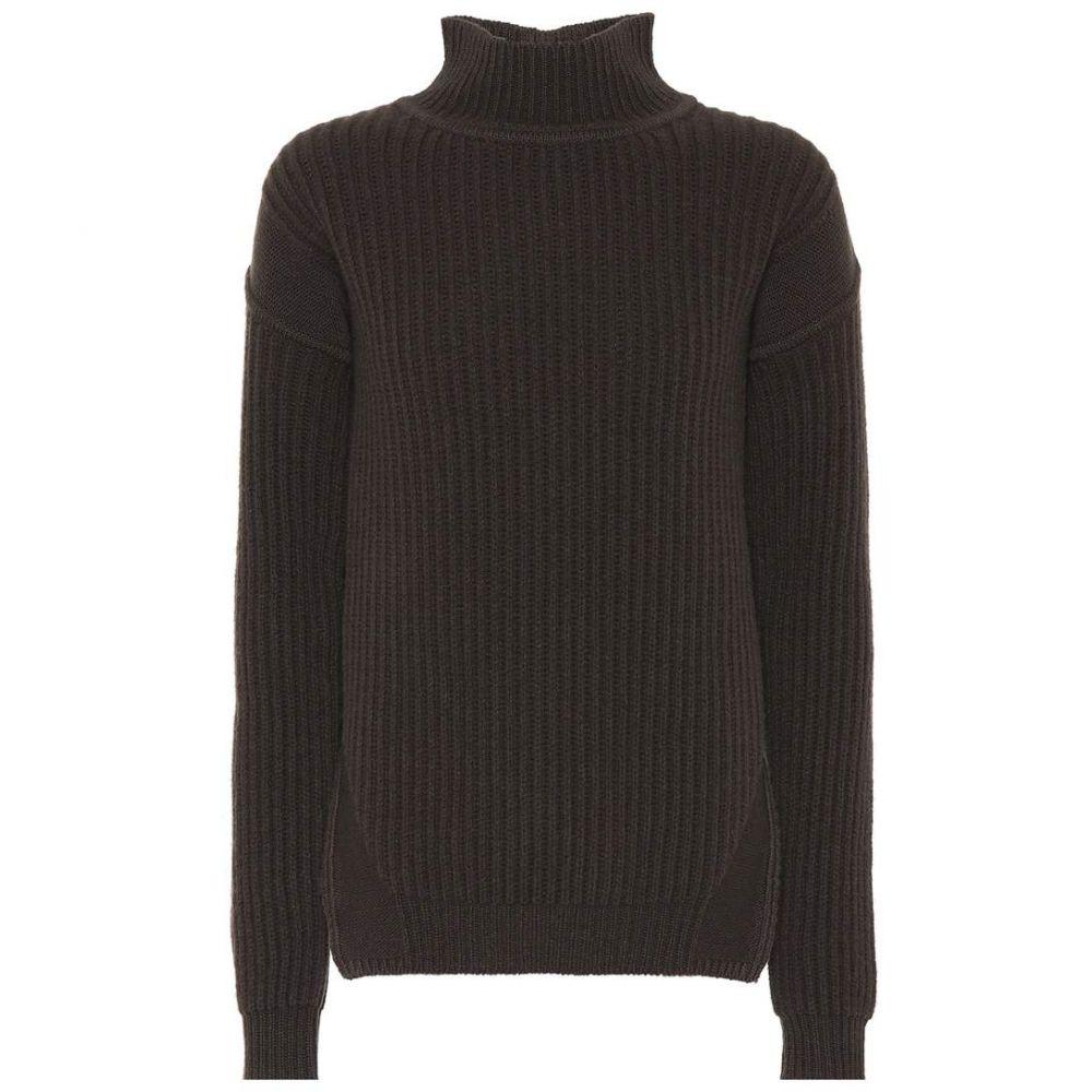 リック オウエンス Rick Owens レディース ニット・セーター トップス【Ribbed wool turtleneck sweater】Dust