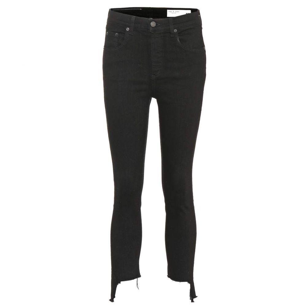 ラグ&ボーン Rag & Bone レディース ジーンズ・デニム ボトムス・パンツ【High Rise Ankle Skinny jeans】BLK HAMPTON