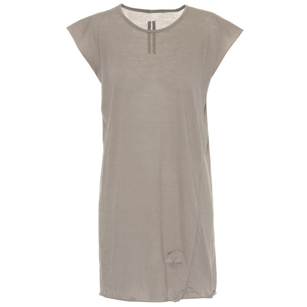 リック オウエンス Rick Owens レディース Tシャツ トップス【DRKSHDW cotton jersey T-shirt】Dust