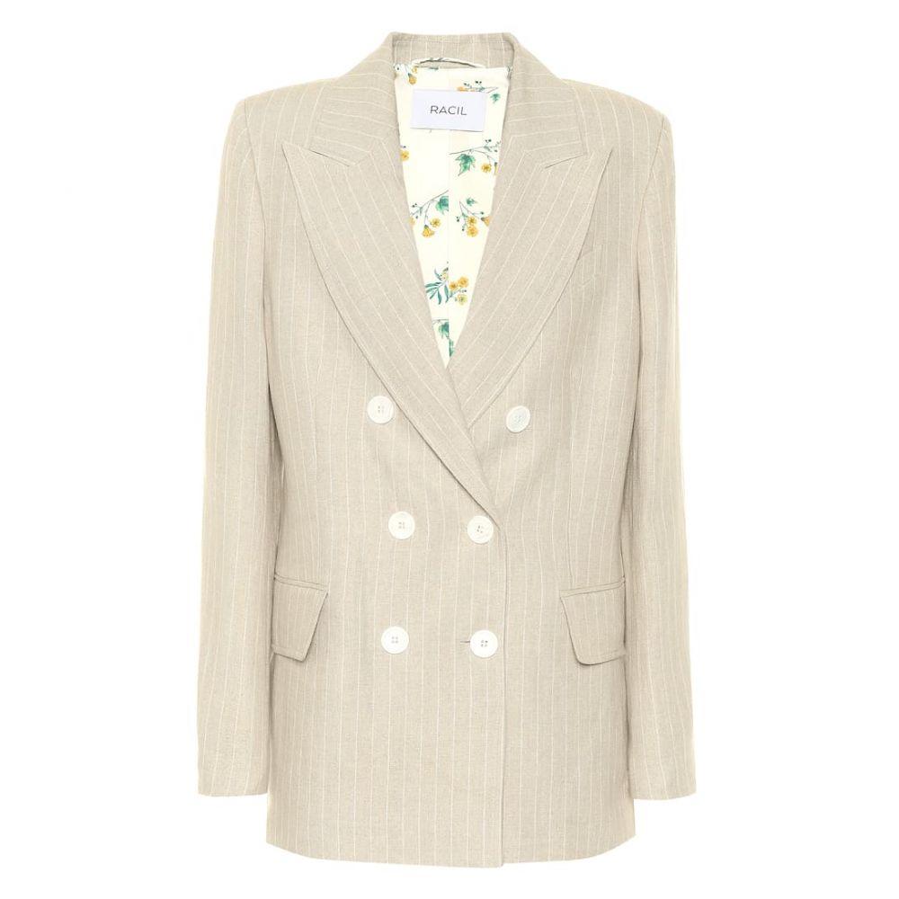ラシル Racil レディース スーツ・ジャケット タキシード アウター【Casablanca linen tuxedo blazer】Oatmeal