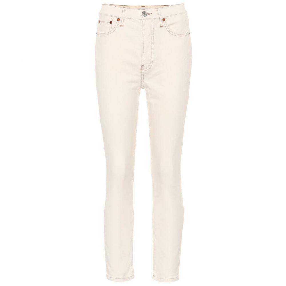 リダン Re/Done レディース ジーンズ・デニム ボトムス・パンツ【High-rise skinny corduroy jeans】winter white
