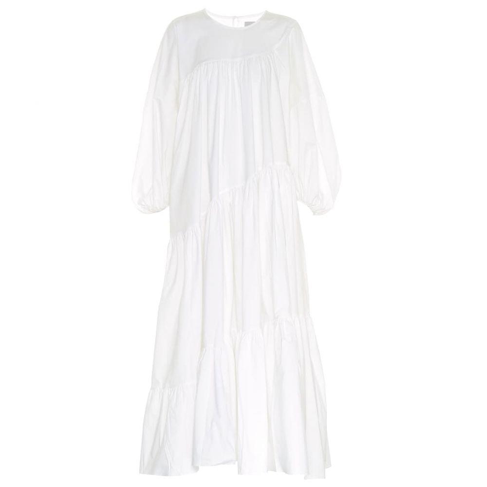 リーマシューズ Lee Mathews レディース ワンピース ミドル丈 ワンピース・ドレス【Elsie cotton-blend midi dress】Natural