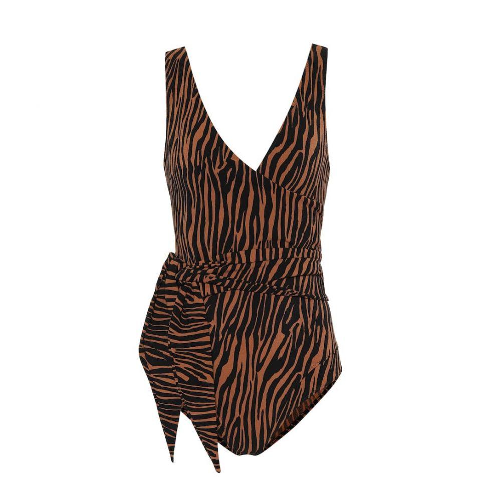 リサ マリー フェルナンデス Lisa Marie Fernandez レディース ワンピース 水着・ビーチウェア【Dree Louise zebra-print swimsuit】Zebra
