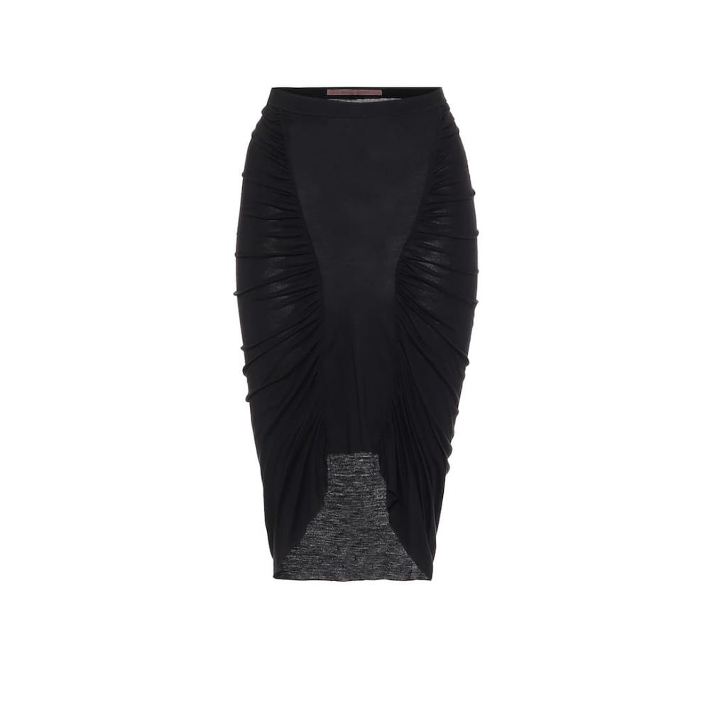 リック オウエンス Rick Owens レディース ひざ丈スカート スカート【Lilies jersey skirt】Black