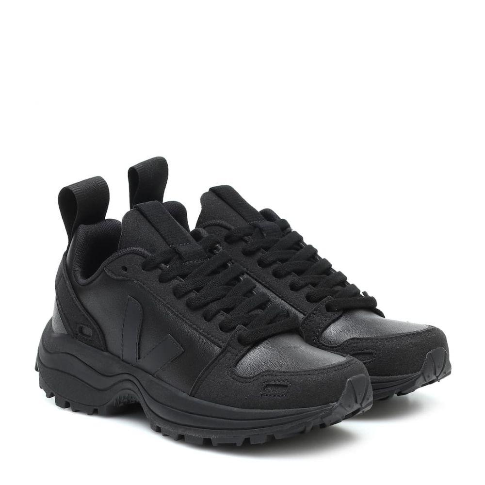 リック オウエンス Rick Owens レディース スニーカー シューズ・靴【x Veja faux leather sneakers】Black/Pearl